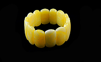"Браслет з бурштинової смоли ""Родзинка""жовтий, фото 1"