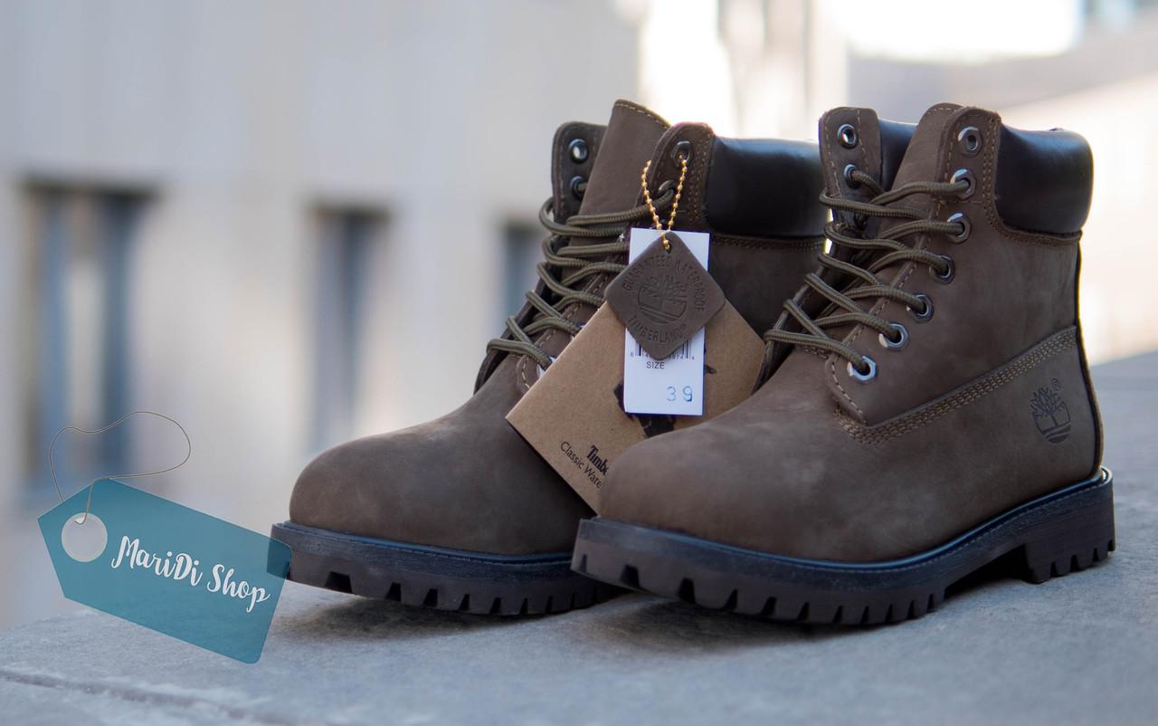 Женские зимние коричневые ботинки Timberland с мехом тимберленд (реплика) -  Интернет-магазин одежды f82ec879321