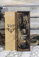 Деревянная подарочная упаковка, коробка, футляр, ящик для бутылки вина с резным изображением