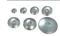Анод цинковий диск для пера керма 140 мм, обважений