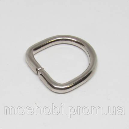 Полукольцо для сумки (17мм) никель 4226, фото 2