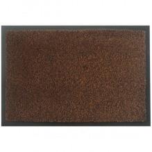 Коврик полипропиленовый на основе ПВХ с ворсом, коричневый 60*90см