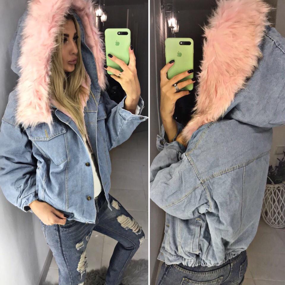0219e211 Теплая джинсовая куртка с мехом, цена 1 310 грн., купить в Днепре ...