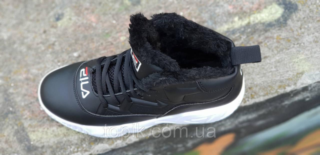 152c6846 ... Улетные зимние черные кроссовки в стиле FILA на платформе женские,  подростковые на высокой подошве ...