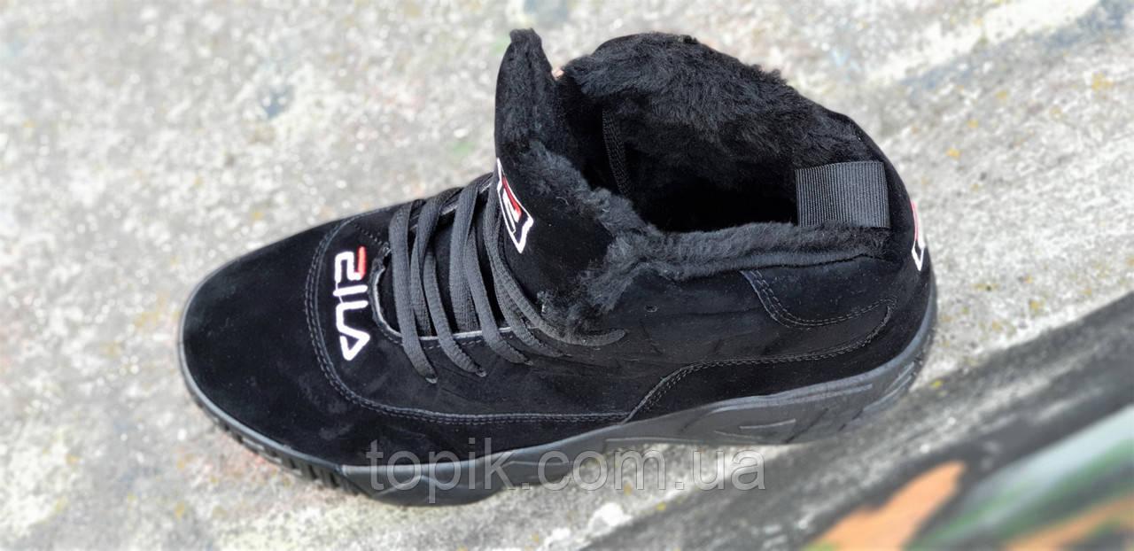 605c474d Зимние черные кроссовки в стиле FILA на платформе женские, подростковые  унисекс на высокой подошве (Код: 1263), цена 845 грн./пара, купить в  Хмельницком ...