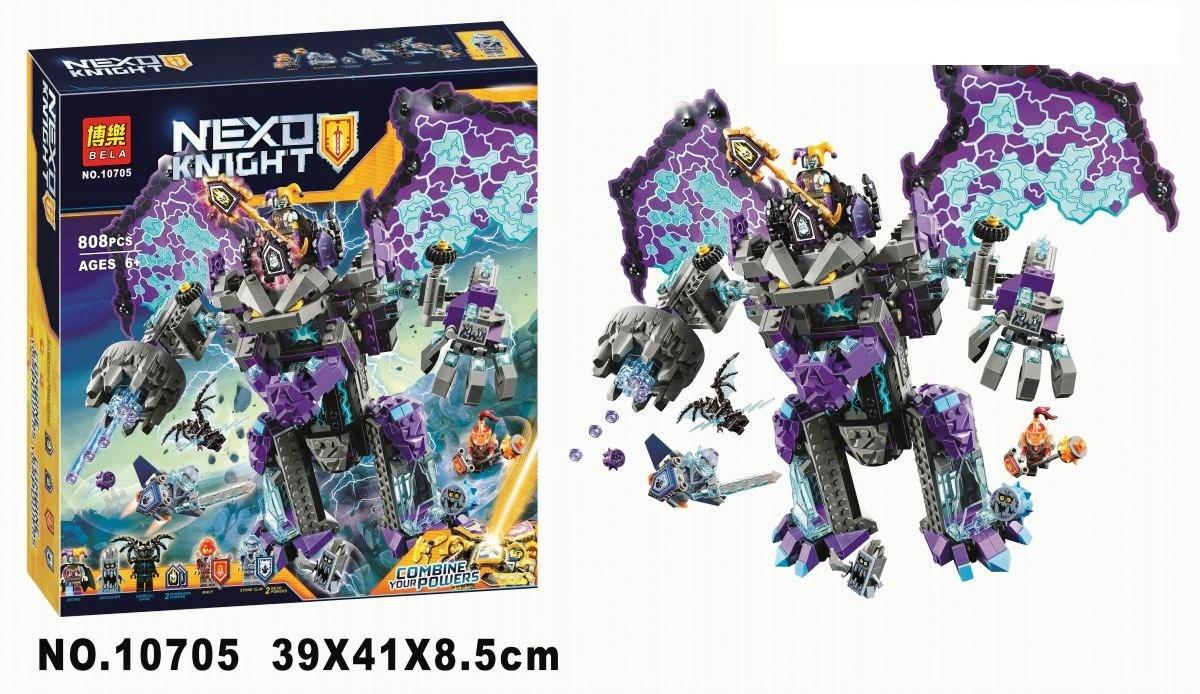Конструктор Bela 10705 Nexo Knight Каменный великан-разрушитель 808 деталей