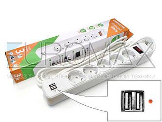 Сетевой фильтр GREELITE на 5 розеток и 2 USB 3,0м