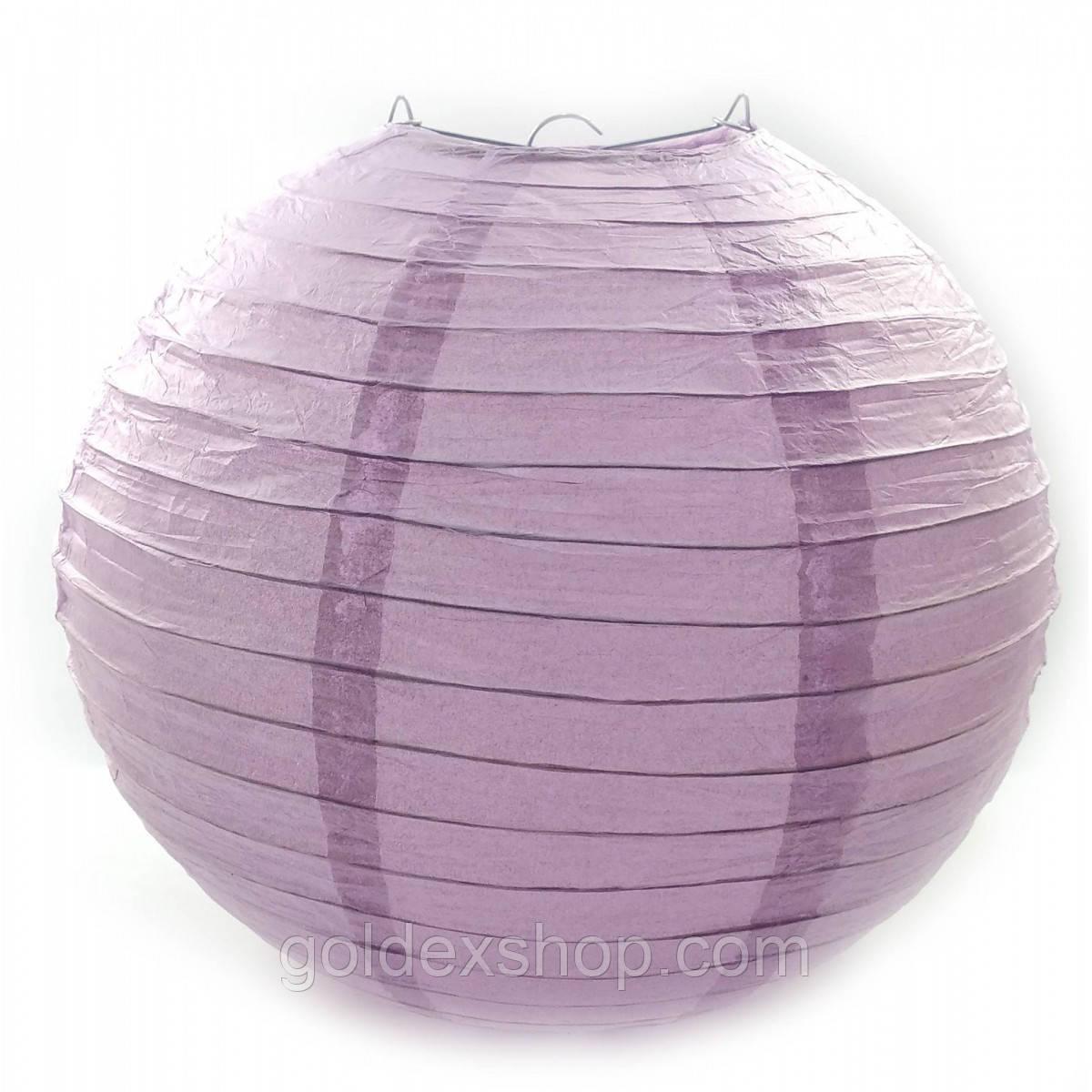 Фонарь фиолетовый бумажный. Китайский подвесной фонарик. (d-30 см).