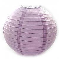Фонарь фиолетовый бумажный. Китайский подвесной фонарик. (d-30 см)., фото 1
