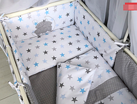 Набор в детскую кроватку - *Звёзды.* - 14 предметов., фото 3