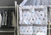 Набор в детскую кроватку - *Звёзды.* - 14 предметов., фото 2