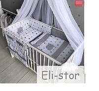Набор в детскую кроватку - *Звёзды.* - 14 предметов., фото 4