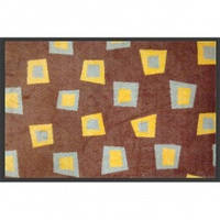 Нейлоновый коврик на резиновой основе 90*120см, коричневый