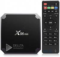 ТВ приставка X96 mini 1/ 8 Gb, 4- ядерная на Android 7.1.2, micro SD, HDMI, пульт ДУ, приставки