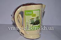 Кружка кипятильник (мини чайник) коричневая, фото 1