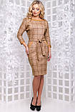 Стильное платье с отделкой из кожи 44- 50р, фото 4