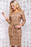 Стильное платье с отделкой из кожи 44- 50р, фото 5