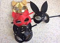 Портупея на лицо маска кролика и маска кошки, женская портупея маска
