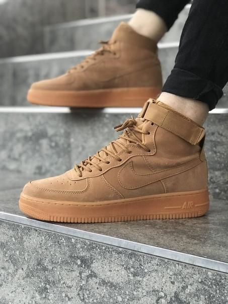 Кроссовки NIKE ,Nike Air Force  кроссовки серого цвета ТОП КАЧЕСТВО!!! Реплика