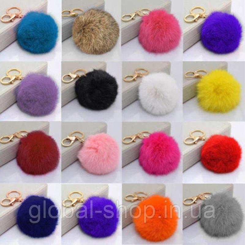 Разноцветный мех кролика шарик плюшевый брелок для сумки телефон кулон маленький