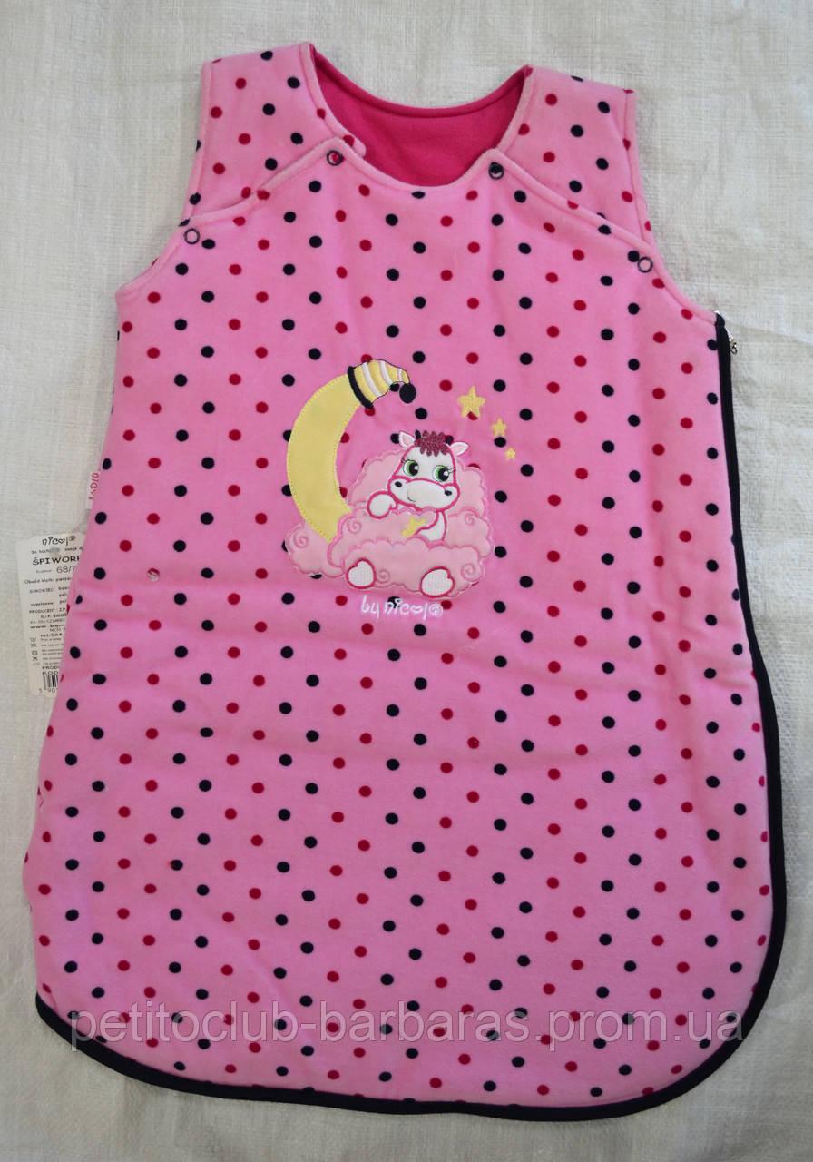 Спальный мешок Коровка для девочки (Nicol, Польша)