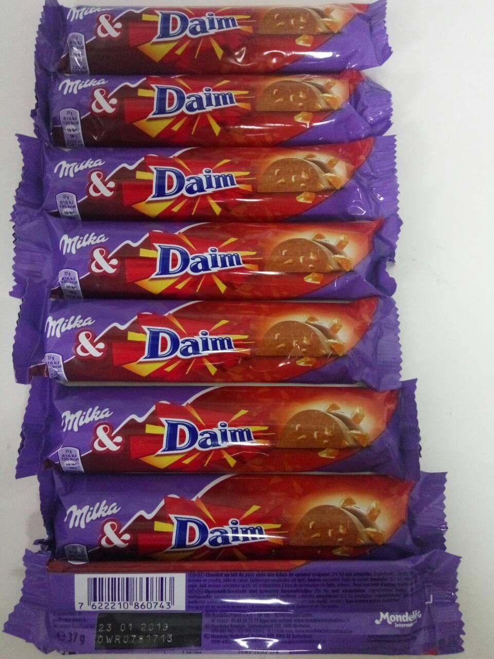 Шоколадный батончик Milka Daim 37г