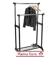 Вешалка-стойка для одежды с полкой