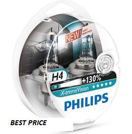 Комплект ламп PHILIPS H4 X-treme VISION 12342XV+S2New