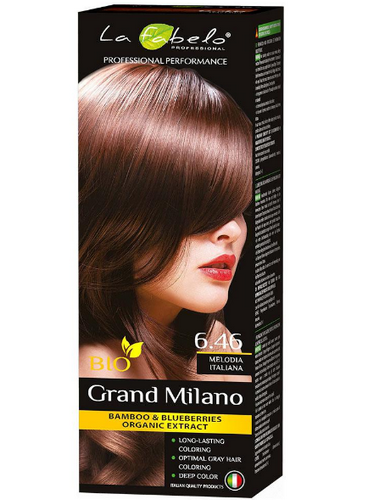 "La Fabelo Professional крем-краска для волос BIO Grand Milano 100 мл ""тон № 6.46"""