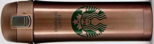 Термос Starbucks coffee (Старбакс кофе) 480 мл, золото