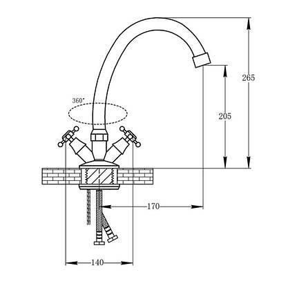 Кухонный смеситель  Q-TAP DOMINOX  ANT 271, фото 2