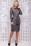 Привабливе плаття з обробкою з шкіри 44 - 50р