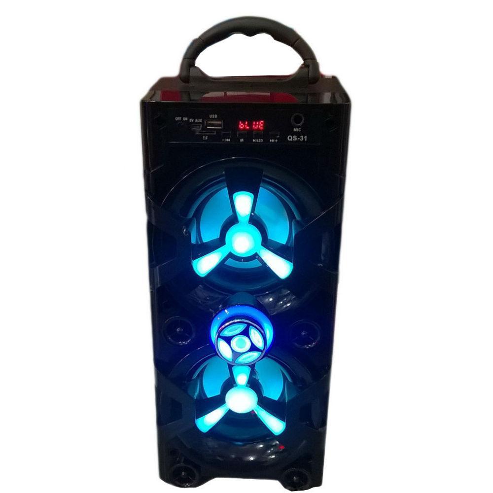 Беспроводная портативная колонка JHW-V902 Bluetooth+FM черная