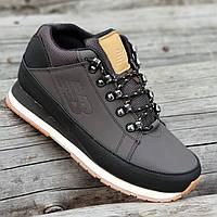 Кроссовки ботинки зимние кожаные New Balance 754 реплика мужские темно коричневые легкие удобные (Код: 1293), фото 1