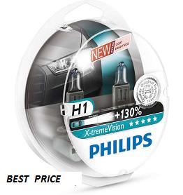 Комплект ламп  PHILIPS H1 X-treme VISION+130 12258XVS2New