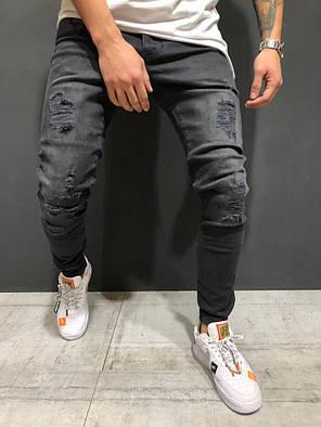6ad194c8282 Мужские джинсы зауженные темно-серые  продажа