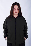 Женский бомбер цвет хаки бренд Tur модель Рэйв