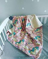 Одеяло для малышки летнее плюшевое, фото 1