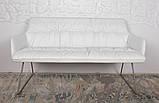 Кресло - банкетка LEON белый кожзам 155 см Nicolas (бесплатная адресная доставка), фото 2