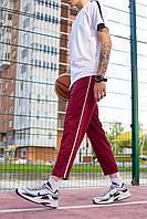 Спортивные мужские трикотажные штаны бордовый Cage