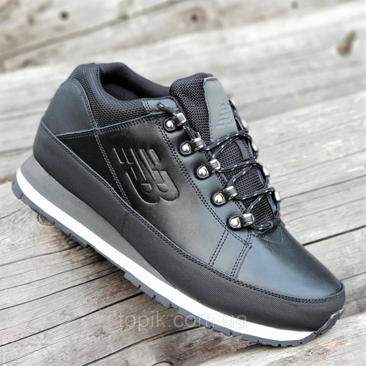 Кроссовки ботинки зимние кожаные New Balance 754 реплика мужские черные  легкие подошва пенка (Код  1294) fd180a56584