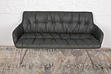 Крісло - банкетка LEON темно-сірий кожзам 155 см Nicolas (безкоштовна адресна доставка), фото 3