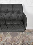 Крісло - банкетка LEON темно-сірий кожзам 155 см Nicolas (безкоштовна адресна доставка), фото 5