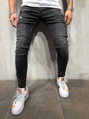 Мужские джинсы Zara зауженные черные топ реплика, фото 2