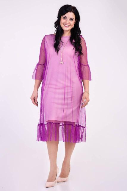 Оригинальное платье с сеткой.