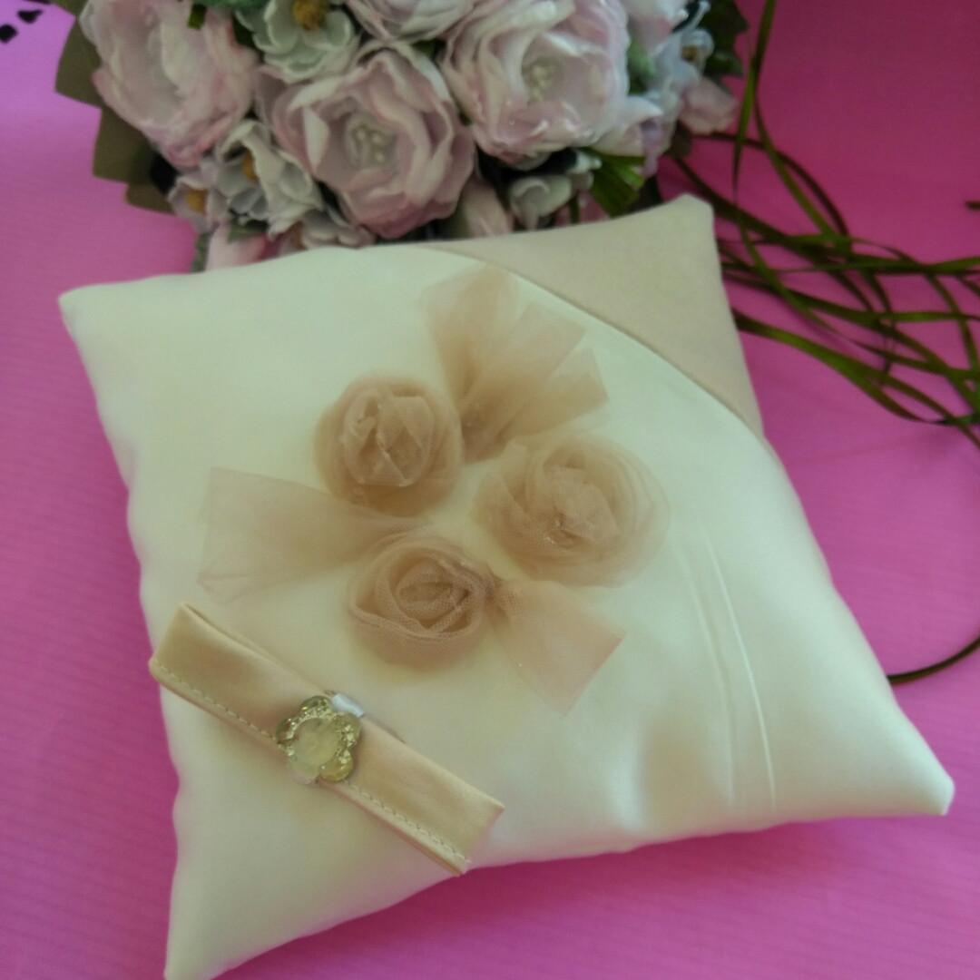 Свадебная подушечка для обручальных колец Н4