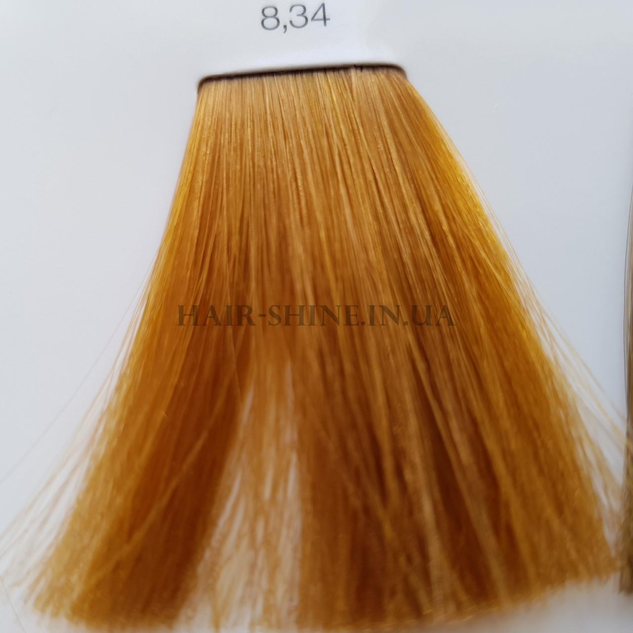 Краска без аммиака 60 мл  L'Oreal Professionnel Inoa 8.34 светлый блондин золотистый медный