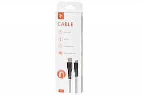 Кабель USB 2E Flat fabric/ flat fabric urban [2E-CCMT-1MGR], фото 3