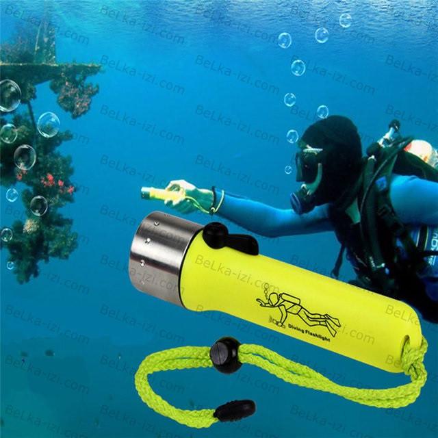 Светодиодный фонарь для дайвинга водонепроницаемый в прочном корпусе! Два цвета!, фото 1