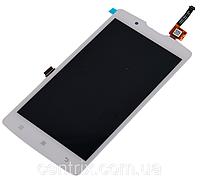Дисплей (экран) для Lenovo A2010 леново + тачскрин, белый